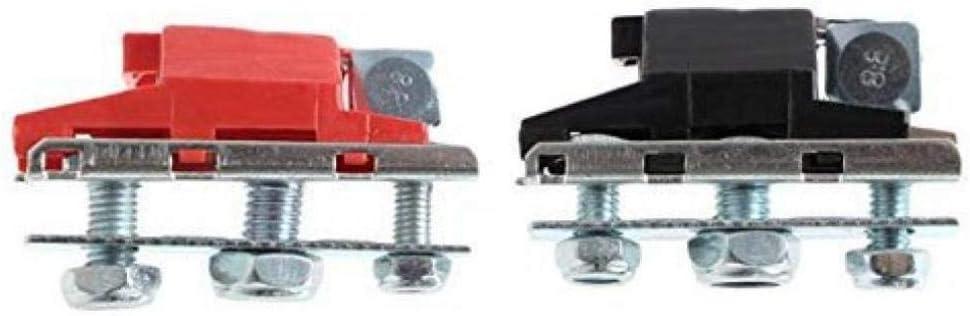12V 3-Way Battery Terminals Connectors Clamps for Car Van Caravan Motorhome SUV Off-Road Pickup Truck.
