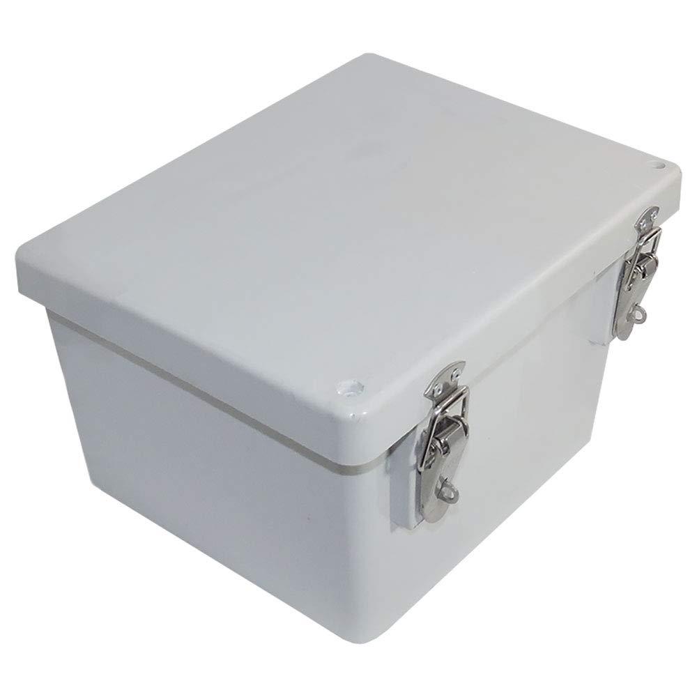 Altelix 10x8x6 FRP Fiberglass NEMA 4X Box Weatherproof Enclosure with Hinged Lid /& Stainless Steel Latches