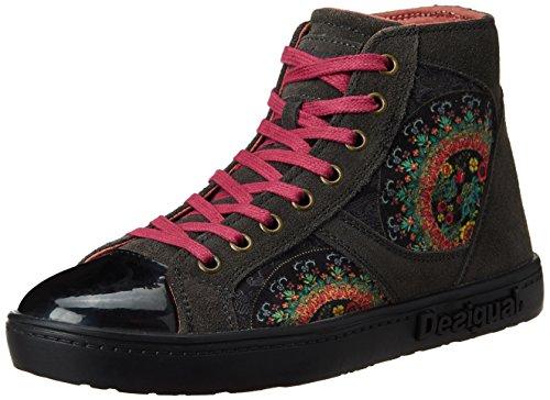 Desigual SHOES LUXOR 1 - zapatillas deportivas altas de material sintético mujer gris - Grau (2006 GRIS OSCURO)