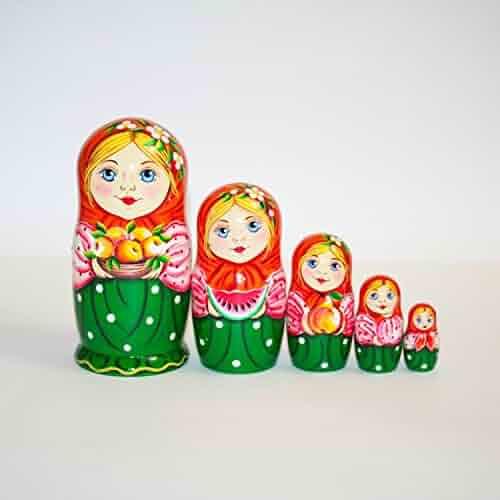 Signed Hand-painted matryoshka modern Nesting dolls Black and white miracle
