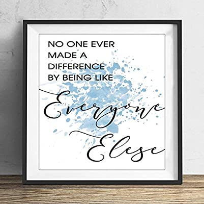 Made A Difference Song Lyric Quote Print