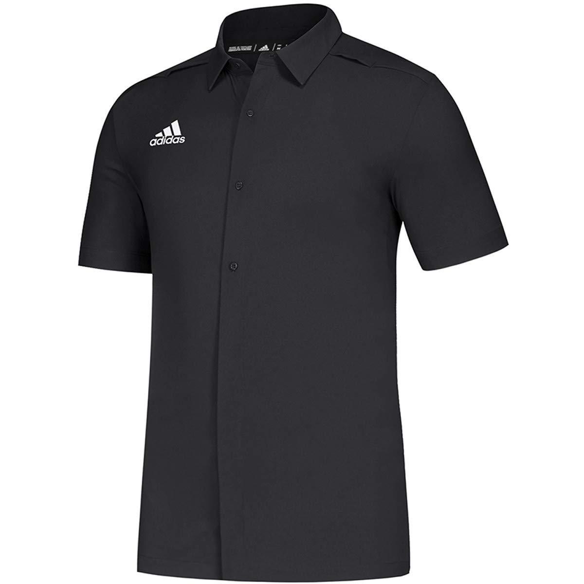 adidas Game Mode Full Button Polo Mens Multi-Sport XXL Black//White