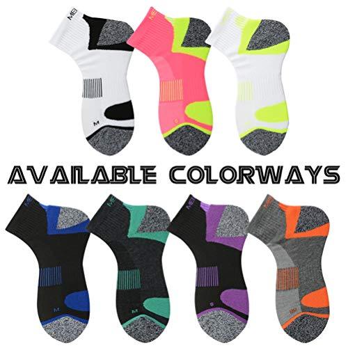 MeiKan Lightweight Hiking Socks Men, Mens Dry Fit Multi Performance Outdoor Sports Trekking Crew Socks 1 Pairs (White&Black, Large)