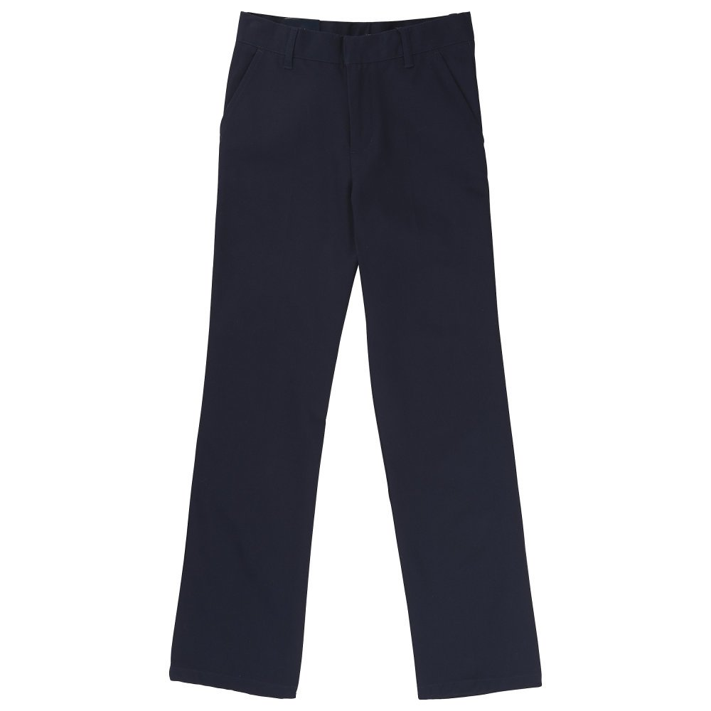 French Toast Boys' Flat Front Double Knee Pant SK9280
