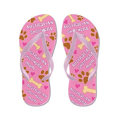 CafePress Australian Shepherd Mom Gift Flip Flops - Flip Flops, Funny Thong Sandals, Beach Sandals Pink