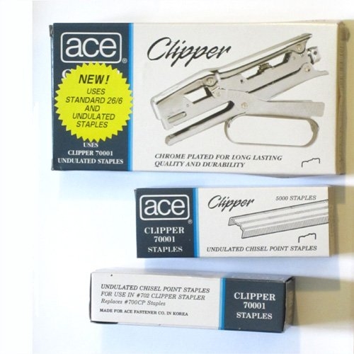 Ace 702 Clipper Plier Stapler - Value Pack by ACE