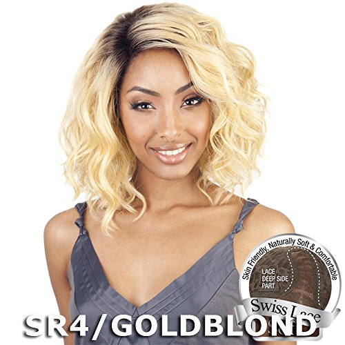 ISIS BROWN SUGAR Human Blended Lace Front Wig - BS206 (#1B - Off Black) by ISIS HAIR by ISIS HAIR