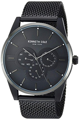 Kenneth Cole New York Men's Analog-Quartz Watch with Stainless-Steel Strap, Black, 21 (Model: KC15205005)