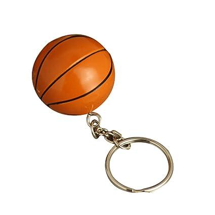 Toyvian 4CM Baloncesto Estimulado Llavero Deportes Llavero ...
