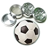 Soccer Ball 4 Pc. Aluminum Tobacco Spice Herb Grinder