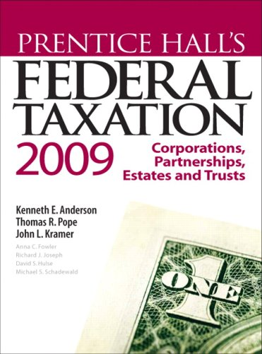 prentice hall s federal taxation 2013 corporations Learn about the taxation rules for different entity types, as well as transfer taxes get an introduction to the taxation of corporations (s and c), partnerships taxation, income taxation of estates, trusts and gifts you also review rules governing formation, operation and disposition of partnerships/corporations.