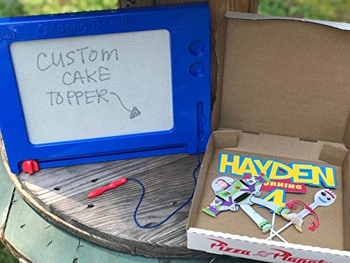 9 inches Toy Story Pizza Planet Boxes Favors and DIY Labels