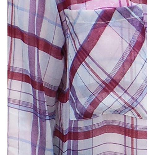 Camisa de cuadros para mujer - Ligero sedoso - UK tamaños 8 - 22 ...