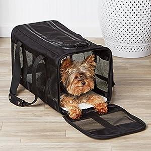 AmazonBasics Black Soft-Sided Pet Carrier - Large