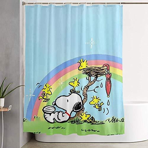 WXCYL Snoopy & Woodstock Fashion Polyester Shower Curtain 60x72 Inch ()