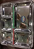 Stainless steel bhojan thaal/plate 5 Compartments Set of 6...
