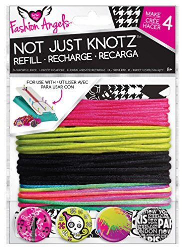 (Fashion Angels Not Just Knotz Refill Pack - Pink, Green, Black by Fashion Angels)