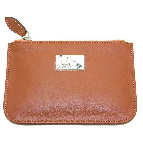Emporio Armani Women's Zip Top Coin Wallet One Size Cognac