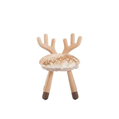 Amazon.com: LRZS-Furniture - Banco de ciervos con silla ...