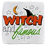 18 Inch 6-Sided Cube Ottoman Halloween Witch and Famous Hat