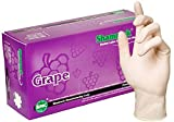 Shamrock 14112-M-bx Medical Grade Examination Dental Glove, Grape Flavor, 4.5 mil - 5 mil, Powder-Free, Textured, Natural Rubber Latex, Non Sterile, Medium, Natural (Pack of 100) Model: 14112-M-bx (Home & Kitchen)
