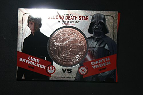 2015 Star Wars Chrome Perspectives Jedi vs. Sith Trading Cards Bronze Medallion Luke Skywalker vs. Darth Vader SECOND DEATH STAR Fight Poster Version