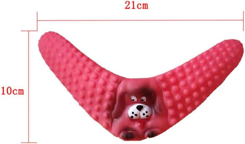 VILLCASE 3 Piezas Juguetes para Masticar Mascotas Juguetes Molares para Perros Juguetes con Forma de Dardos Boomerang para Perros Juguetes Interactivos Herramienta de Limpieza de Dientes