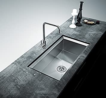 32u0026quot; Designed UnderMount Stainless Steel Kitchen Sink With Slope Edge  Single Bowl With Free