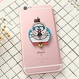 ZOEAST(TM) Blue Cat Doraemon Kitty Universal 360° Rotating Phone Buckle Tablet Finger Grip Ring Stand Holder Kickstand Phones Tablets iPhone 4 4S 5 5S 6 6S SE 7 Plus Samsung iPad iPod (Doraemon)