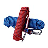 #6: Rock Climbing Rope, 12mm Diameter Outdoor Hiking Accessories High Strength Cord Safety Rope(10m,32ft)(20m,64ft) (30m,94ft)