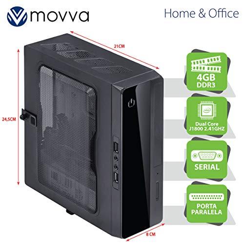 MINI COMPUTADOR LITE INTEL DC J1800 2.41GHZ MEM. 4GB SEM HD - 1X PORTA PARALELA 1X PORTA SERIAL - FONTE 130W - MOVVA