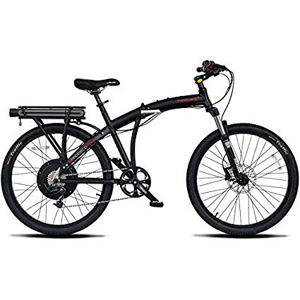 "ProdecoTech Phantom X2 V5 Folding Electric Bicycle, 26"", Black"