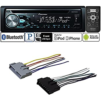 Amazon.com: CAR Stereo Radio CD Player Receiver Bluetooth ... on ford duraspark harness, ford battery cover, ford heater switch, ford radio display, ford fuel pump assembly, ford super duty hub conversion, ford parking assist sensor, ford key switch, ford temp sensor, ford coil harness, ford vacuum harness, ford ac clutch, ford engine harness, ford cigarette lighter, ford air bag module, ford abs unit, ford computer harness, ford vacuum switch, ford rear bumper bracket, ford gas pedal,
