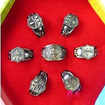 variété de dessins et de couleurs personnalisé beauté Hot Katekyo Hitman Reborn Vongola Cosplay anneaux Set of ...