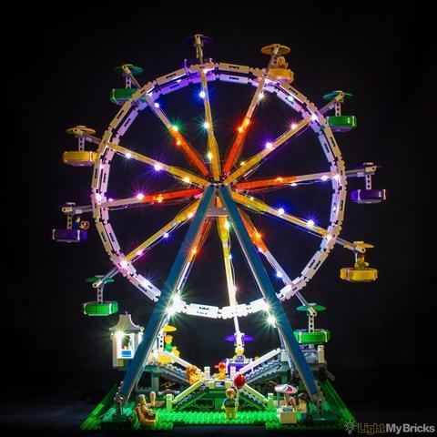 Ferris Wheel Lighting Kit for LEGO 10247  by Light My Bricks