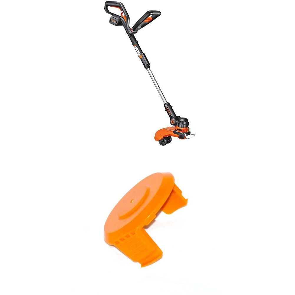 WORX 32-Volt GT2.0 String Trimmer/Edger/Mini-Mower with Tilting Head and Single Line Feed WITH WORX 50006531 Trimmer Edger Spool Cap Cover Cordless Trimmers
