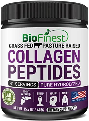 Biofinest Bovine Collagen Peptides (Unflavored) - 100% Grass Fed Pasture-Raised Cattle - Pure Hydrolyzed - Paleo Keto Diet Supplement - for Vital Joint & Bone Support, Digestion (15.7 oz)