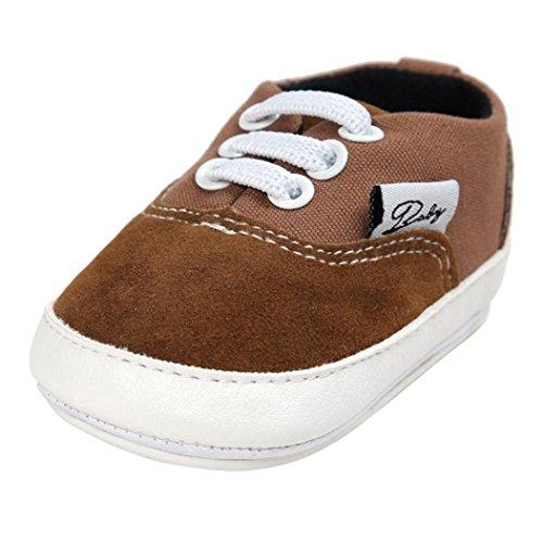 Tefamore BABY Zapatos bebé de lona de los muchachos del ocasionales Antideslizante Único de la zapatilla de deporte (11, Café)
