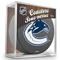 Sher-Wood Vancouver Canucks NHL Eishockey Puck Untersetzer (4er Set)