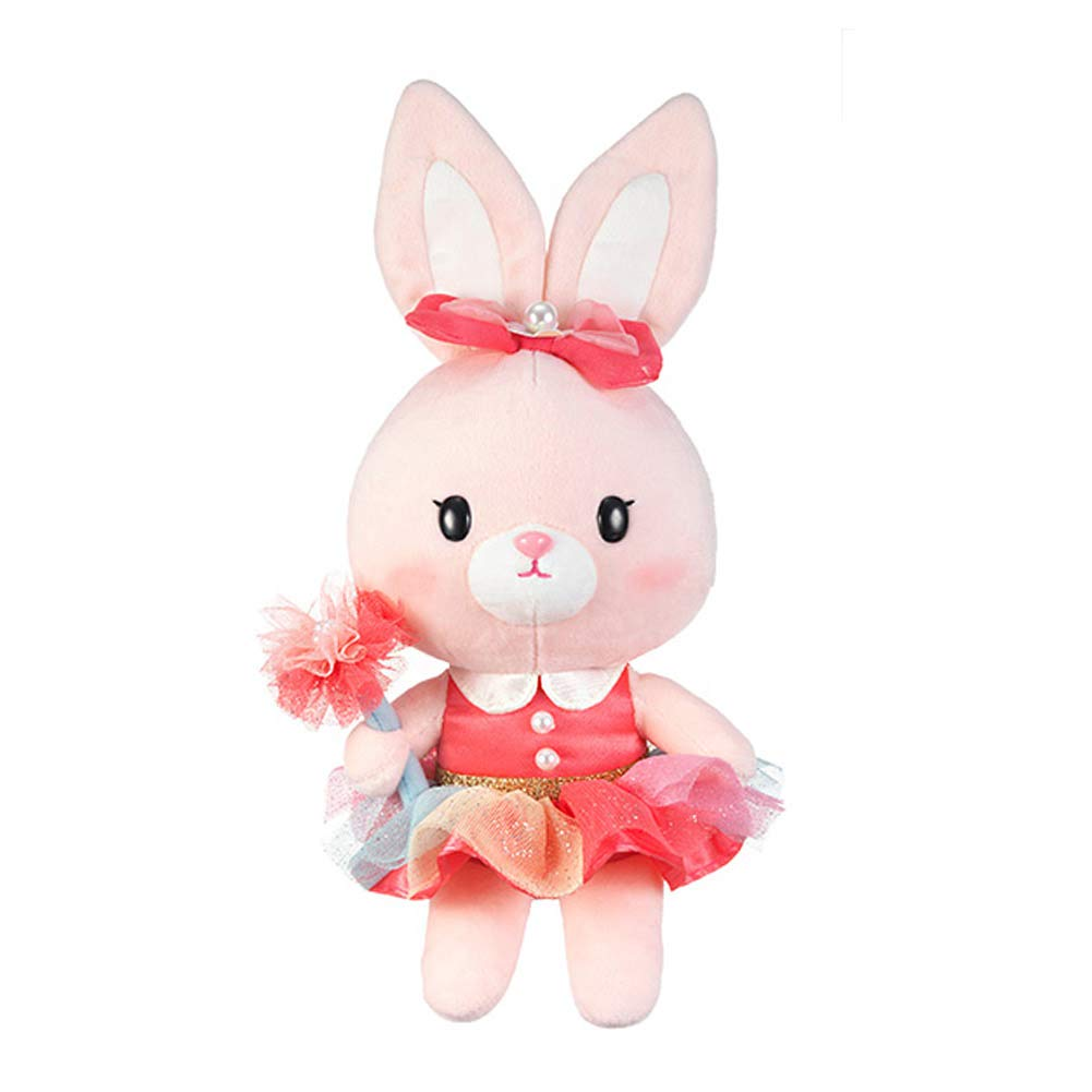 Seayoung Toy Safari Friends Rabbit Bunny Stuffed Animal Plush for Kids Boys Girls Pink 12'' by Seayoung Toy