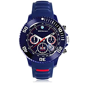 Ice-Watch - BMW Motorsport (sili) Dark blue - Reloj blu para Hombre con Correa de silicona - Chrono - 000842 (Large)