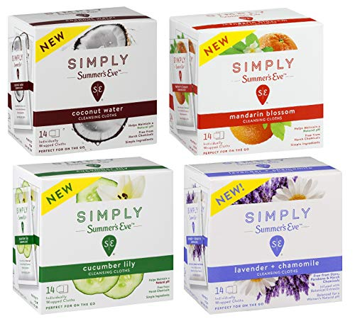 Summer's Eve Feminine Wipes, On The Go Variety Pack, 56 Count ()