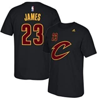 Lebron James Cleveland Cavaliers Black Alternate Name and Number Short Sleeve T-shirt