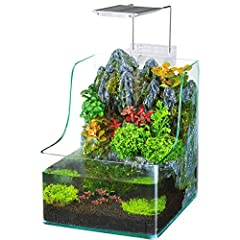 The Penn Plax Aqua Terrarium Planting Tank with Aquarium is the latest in aquatic ecosystems. The beautiful, revolutionary design allows you to grow your favorite live plants together with your fish in one symbiotic environment. The terrarium...