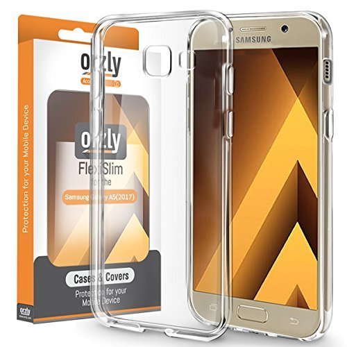 Galaxy A5 2017 Case, Orzly FlexiCase for Samsung Galaxy A5 - CLEAR Protective Skin for New 2017 Galaxy A5