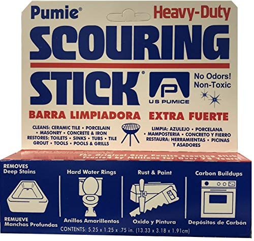 U.S. Pumice 1001 Scouring Stick, Pack of 2 (Best Way To Use A Pumice Stone)