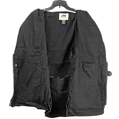 HUMVEE HMV-VS-BK-XL X-Large Cotton Safari Vest with Extra Pockets, Black