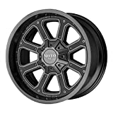 MOTO METAL SHIFT MATTE GRAY W/G-BLK INSERTS SHIFT 18x9 5x139.70/5x150.00 MATTE GRAY W/G-BLK INSERTS (-12 mm) WHEEL RIM