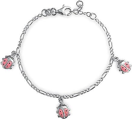 Tiny Ladybug Necklace 925 Sterling Silver Charm Ladybugs Bugs Gift Small NEW