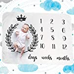 Baby-Monthly-Milestone-Blanket-Bundle-with-Milestone-Chalkboard-Wall-Sticker-Premium-Ultra-Soft-Will-Not-Wrinkle-or-Fade-Like-Muslin-Large-50-x-40-Size-Perfect-for-Baby-Boy-Girl-Photo-Prop